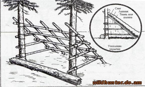 Как сделать в лесу укрытие
